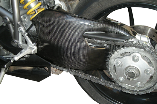 Ducati Sbk 848 1098 1198 Carbon Fiber Swingarm Guard